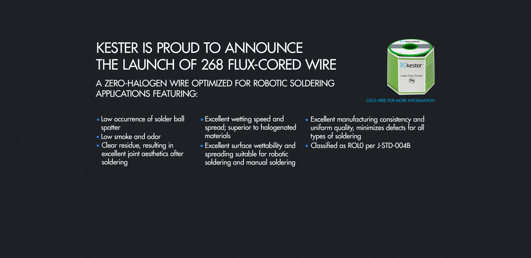 Kester | Global Leader in Solder and Solder Related Products